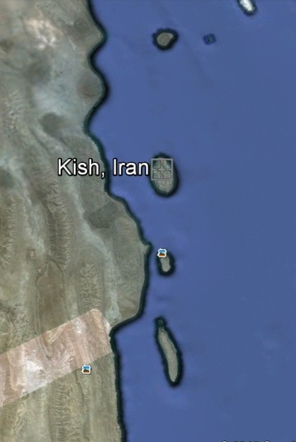 Kish Island in the Middle east. (Courtesy of Google)
