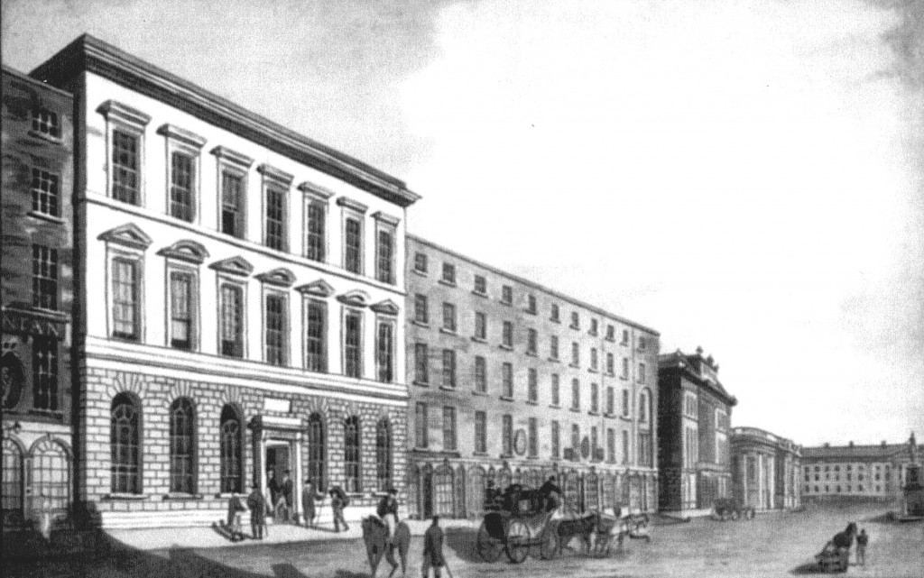 Commercial Buildings (left) Dame Street - pre Central Bank.