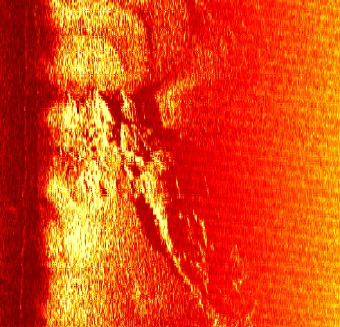 Sonar image of 19th century shipwreck 'Sir Charles Napier'