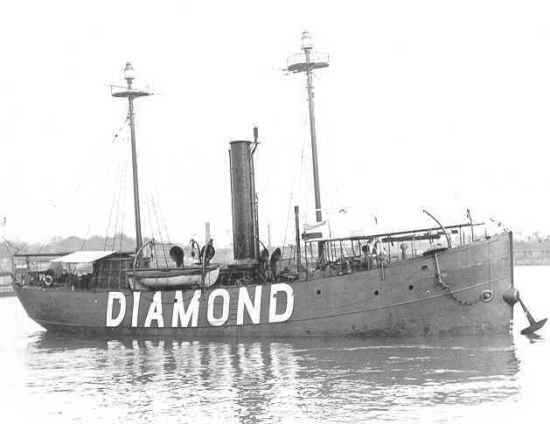 Diamond Shoals LV sunk by U-104, March 1918