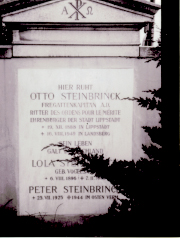 Steinbrinck's family tombstone.