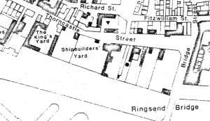 Kings shipbuilding yard, Ringsend. (Image from 1831 survey)