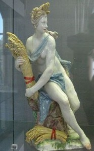 Porcelain figure of Ceres