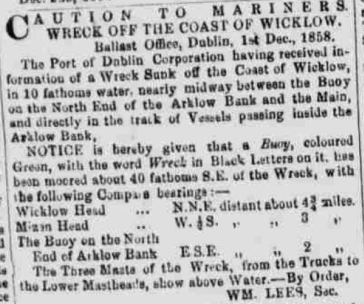 Nestorian 'Wreck Buoy' notice