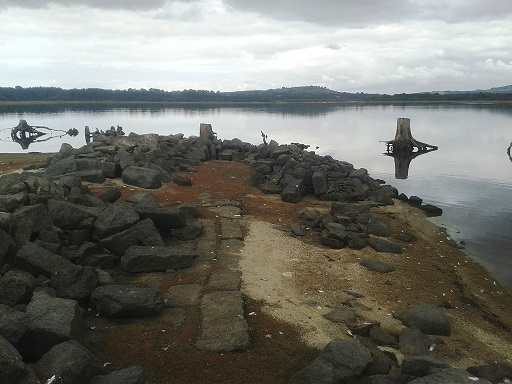 Exposed ruins of Pen Field. (See scattered mussel shells)