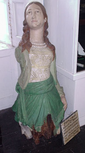 Figurehead of the ship Pomona. (County museum, Enniscorthy.)