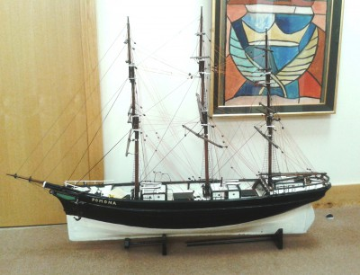 Model of the Pomona in Wexford County Archives.