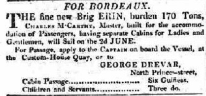 Advert for one of George Drevar's business enterprises.