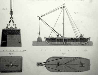 The Bell, diving lighter built by Mortons of Ringsend for howth Harbour Commissioners 1816