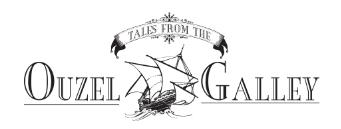 Ouzel Galley Logo, image of schooner